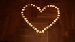 Heart shaped from candles
