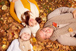 happy family at autumn
