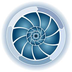Swirl Circle Chart
