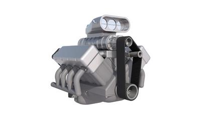 v8 kompressor motor geschlossen