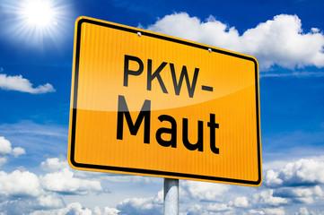 Ortseingangsschild mit PKW-Maut
