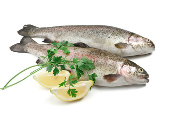 rainbow trouts with lemon and parsley