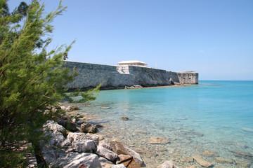 Historic walls of the harbour of Hamilton, Bermuda