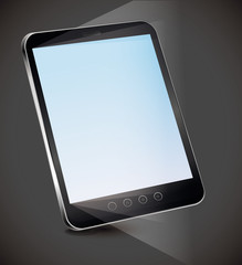 Vector tablet pc with empty screen
