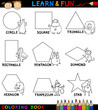 Basic Shapes with Animals for Coloring