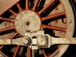 Rad einer Dampflokomotive mit Kuppelstange
