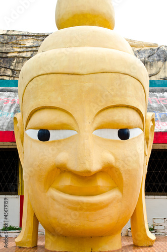 Head of buddha at Thai temple