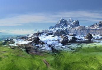 Fantasy Landscape - Mountains