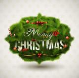 Fototapety Christmas Label