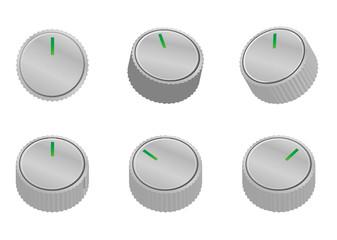 様々な角度から見たスイッチのイラスト