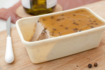 Liver parfait from foie gras and truffles