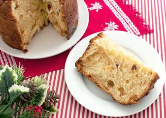 Italian traditional christmas cake panettone