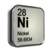Постер, плакат: 3d Periodic Table 28 Nickel