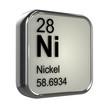 Постер, плакат: 3d Periodic Table 28 Nickel