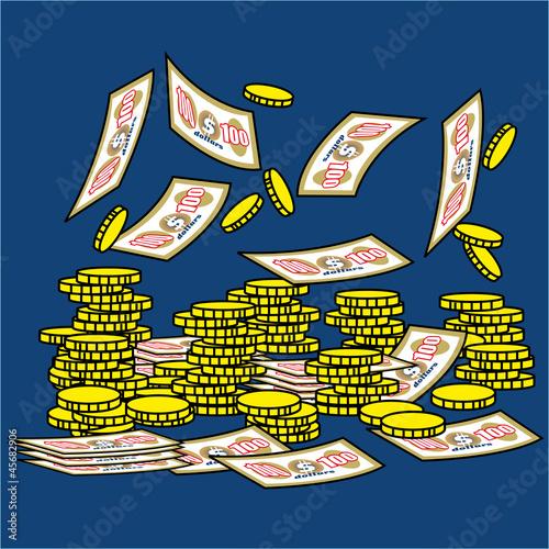 argent, or, richesse, monnaie, trésor, trésorerie, pièces