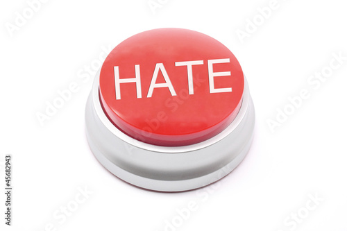 Large red HATE button