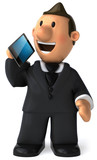 Fototapety Businessman and smartphone