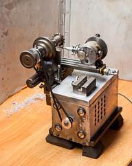 Self made lathe