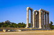 Temple of Zeus and Lycabettus hill at Athens