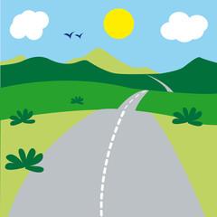 route, paysage, chemin, passage, seul, nature, voie