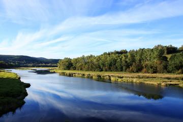 Beautiful Body of Water Lipno in southern Czech