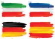 drapeau italien, français, allemand et espagnol