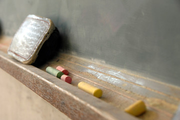 放課後の教室の黒板
