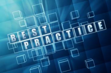 blue best practice in glass blocks