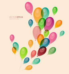 Background with colored balloons