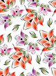 Seamless flowers for textile fabrics