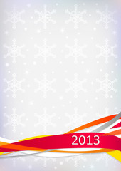 New Year's card with inscription 2013.