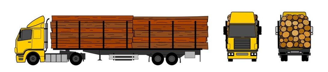 Wood transportation by truck