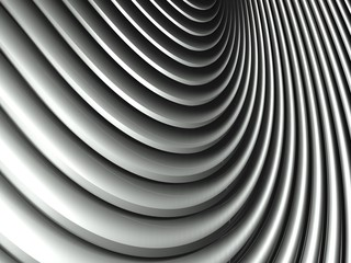 3d wavy aluminium background abstract silver pattern