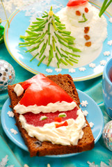 funny christmas breakfast for child