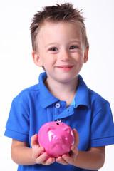Kind mit  Sparschwein 2