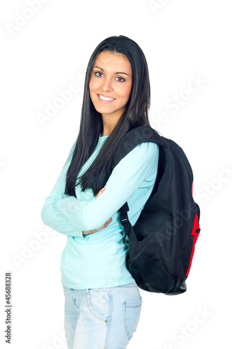 Young University Student with a Backpack