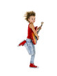 Rockstar kid  dances with electric guitar