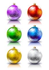 Christmas balls. Christmas decorations.