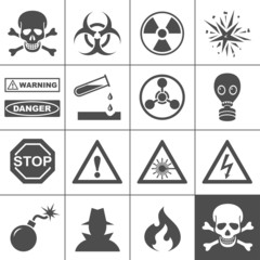 Danger and warning icons. Simplus series