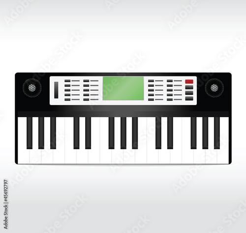 Black synthesizer