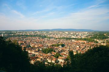 Besançon, vue du centre ville depuis le fort Chaudanne