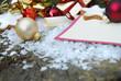 Weihnachtskarte Blanko mit Dekoration