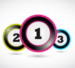 colorful numbers buttons,1 2 3