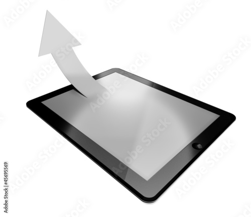 3d tablet pc, success arrow