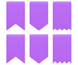 Purple retro ribbons