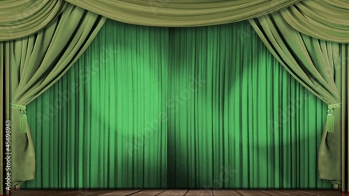 theatre curtains fabric velvet green