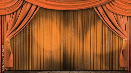 theatre curtains fabric orange
