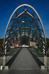 The Bridge of Peace in Tbilisi, Georgia