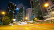 Street traffic in Hong Kong at night, timelapse