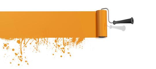 Farbroller Orange Klecks